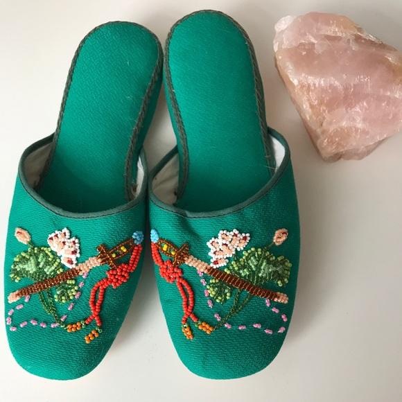 c6e7d27da83 Anthropologie Shoes - Vintage hand beaded slippers.